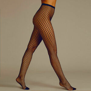 Black Taupe Ladies Womens Sexy Fishnet Tights Large Net Stockings one size UK