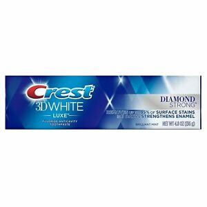 Crest 3D White Luxe Diamond Strong Brilliant Mint Toothpaste 136 g *EXP 11/2020*
