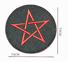 Pentagram Iron on Embroidered Sew Patch Badge Patches a Lot of designs  #194