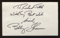 Bobby Thomson Signed 3x5 Index Card Vintage Autographed Baseball Signature