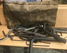 Huge Vintage Allen Hex Wrench Collection Lot Various Sizes - Big to Tiny 50+ pc.