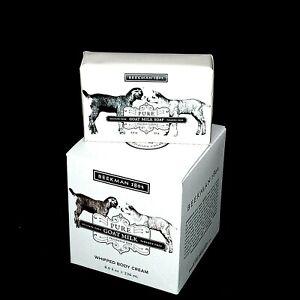 Beekman 1802 FRAGRANCE FREE 8oz Whipped Body Cream &3.5oz Goat Milk Soap Bar SET