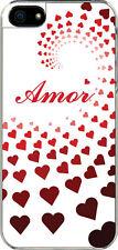 iPhone 5 Graduated Heart Amor Spanish I Love you Design Sticker on Hard Case