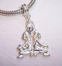 Zodiac Gemini Twins Rhinestone Dangle Bead for Silver European Charm Bracelets