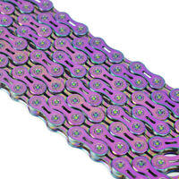 VG Sports 9/10/11 speed Bicycle chain Half hollow Colorf 116Links MTB bike chain