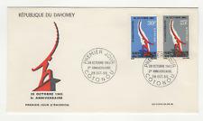 République du Dahomey 2 timbres sur lettre FDC 1965 tampon Cotonou /FDCa132