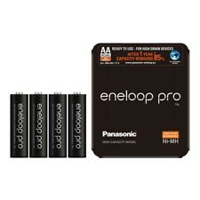 4x Panasonic Eneloop PRO AA HR06 2500mAh NiMH Rechargeable Batteries with Case