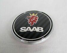 SAAB 93 95 HOOD EMBLEM CARBON FIBER FRONT ROUND BADGE 97x sign symbol logo fibre