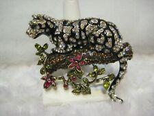"HEIDI DAUS ""Natural Instinct"" Ocelot Leopard Pin (Orig.$189.95)"