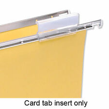 5 Star Office Card Inserts for Clenched Bar Suspension File Tabs White Pack 50