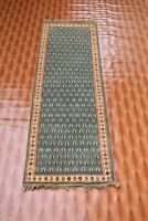 Afghan Carpet Green Colour Runner Turkish Wool Rugs Corridor Bohemian 2x6 foot