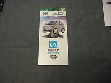 SCION xD  Brochure Tanaka DIY Collabo Paper Shaper model car
