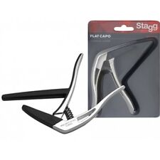 Stagg SCPX-FL Flat Trigger Guitar Capo - Chrome
