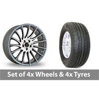 """4 x 20"""" Wolfrace Aero Titanium Alloy Wheel Rims and Tyres -  275/55/20"""