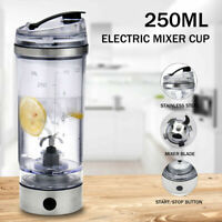 Portable Electric Shaker Blender Drink Cup Protein Nutrition Mixer Bottle 250ML