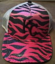 KC Hat New Era Baseball 9forty SnapBack Pink Zebra Print Trucker Hat Flat c9