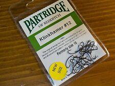 Partridge Klinkhamer #12 (formerly size 16)  Fly Tying Hooks QTY=25