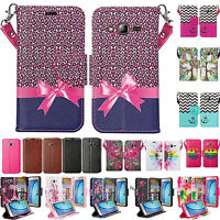 Samsung Galaxy On5 PU Premium Leather Wallet Case [Kickstand] + Card/Money slots