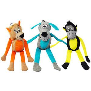 Pet Dog Soft Chew LARGE Animals Squeaky Fun Crackle Premium Toy Puppy Plush UK