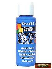 M01429 MOREZMORE DecoArt COASTAL BLUE Crafter's Acrylic All Purpose Paint A60