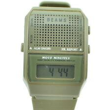 Vintage Digital Watch Talking BEAMS Green (Speaker Not Working) A901