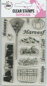 NEW Clear Acrylic Craft Stamp Set Harvest Festival.