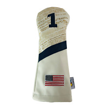 Sunfish Leather golf driver headcover - The Declaration Usa America