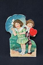 Unique cutout Turn of the century To my love Valentines post card