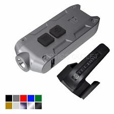 Nitecore TIP 2017 Upgrade 360 Lumen USB Rechargeable Keychain Flashlight (Grey)