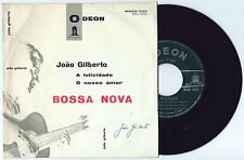 "7"" JOAO GILBERTO A felicidade (Odeon 63 ITALY) bossanova unique press MEGARARE M"