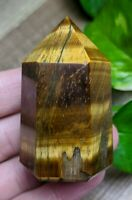 ONE (1) GOLD TIGER'S EYE Chunky Abstract Wand Crystal Reiki Charged *Read Below*