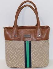 New Tommy Hilfiger Logo Small Tote Handbag Purse Shoulder Bag Multi NWT