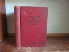 Old AGRICULTURE FOR BEGINNERS Book FARMING LIVESTOCK CROP GARDENING DAIRY CATTLE