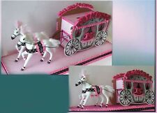 Cinderella Fairy Tale Princess Wedding Birthday Party Card Box Carriage Coach