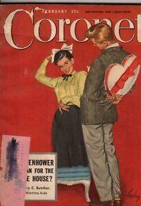 1948 Coronet February - Arthur Szyk; Ponzi's Jackpot; Happy Yorba Linda CA;