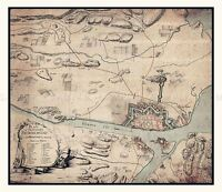 MAP 1776 NORWAY AUTHORITY FREDRIKSTAD NORWAY LARGE REPLICA POSTER PRINT PAM0227