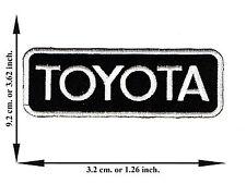 Black + White Toyota Car Automobile Motorsport Logo Applique Iron on Patch Sew