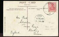 Deutsche Seepost 1909 ADEN cancel Postcard (Frith Swinley Woods) used