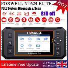 FOXWELL All System Diagnostic Car AIRBAG ABS AT EPB OBD2 Scanner Code Reader UK