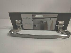 Threshold Over The Cabinet Towel Bar Hold Hang Bathroom Kitchen Brushed Nickel