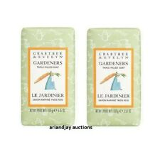 Lot of 2 New Crabtree & Evelyn Gardeners Triple Milled Soap 5.57 oz Each