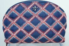 New Tory Burch Makeup Bag Flame Quilt Nylon Rounded Cosmetic Case Sale Gift