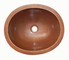 "#01 Mexican Copper Sink drop in Bathroom Sinks 16x13"" Brown Patina"