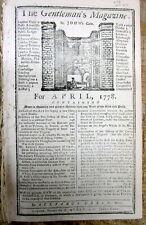 <1778 REVOLUTIONARY WAR newspaper w JOHNNY BURGOYNES PLAN for SARATOGA CAMPAIGN