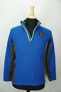 Spyder Active Knit Royal Blue 1/4 Zip Kids Ski CORE Sweater Sz XL