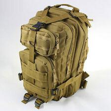 30L Outdoor Sports Military Tactical Backpack Rucksacks Camping Hiking Bag Khaki