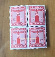 EBS Germany 1942 12 Pfennig Nazi Party Official Dienst BLOCK 4 Michel 161 MNH**