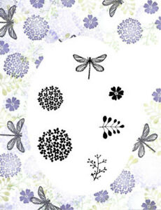 Card-io Dragonfly Garden Majestix Clear Peg Stamps CDMADR-01