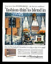 "Original 1957 ""Westinghouse"" Air Conditioner Beautiful Bedroom Decor Print Ad"