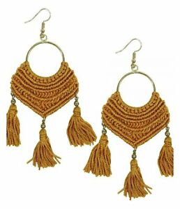 Blue gLoaSublim Bohemian Women Spiral Pendant Thread Tassel Dangle Drop Earrings Jewelry Gift Fashion Earrings